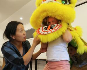Tutor Lisa Hanson, of the Otago Southland Chinese Association's Dunedin lion dancers group,...