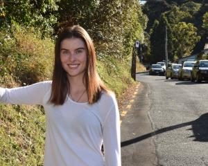 Restricted parking in Dunedin's Cosy Dell Rd has worked well, says resident Mia Warman. PHOTO:...