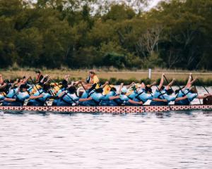 The Otepoti Dragons compete at Lake Hood, near Ashburton, last month. PHOTOS: SUPPLIED