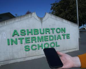 "Ashburton Intermediate has a policy to ""strongly discourage"" pupils bringing cell phones to..."