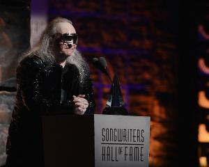Inductee Jim Steinman speaks at the Songwriters Hall of Fame 43rd Annual induction and awards in...