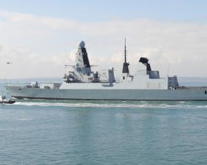 The HMS Dauntless, a Type 45 destroyer similar to the one due to be deployed to the Black Sea...