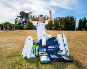 Cameron Fairhall, 11, has new gear for the next cricket season after he and brother Matthew were...