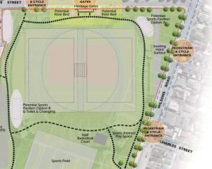 Christchurch City Council's proposed plan to redevelop the site. Image: CCC