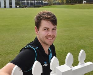 Jacob Duffy reflects at the University Oval yesterday after having been announced in the Black...