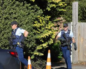 Police responding to reports of a robbery in Christchurch. Photo: George Heard