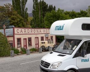 A Tourism Holdings camper van at the Cardrona Hotel, in the Queenstown Lakes district. Photo:...