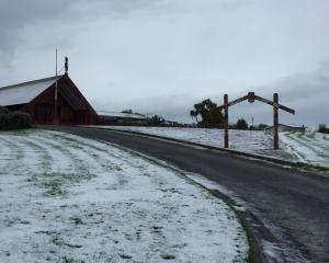 Murihiku marae in Invercargill this morning. Photo: LUISA GIRAO