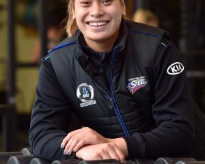 Southern Steel wing defence Renee Savai'inaea relaxes after training at the High Performance...