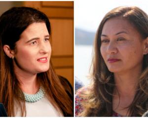 "Marama Davidson (right) says some living in emergency housing are facing ""inhumane, undignified..."