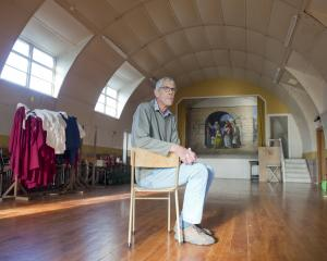 Otago Peninsula Anglican Parish people's warden Ralph Gordon in the Nissen hut that served as the...