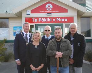Attending a cultural blessing to unveil Oamaru North School's new name Te Pakihi o Maru, which...