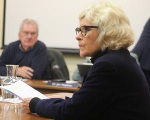 Jan Wheeler speaks at a Waitaki District Council hearing regarding a proposal to lease part of...