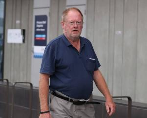 Garry Grimmer has appeared in court charged with arson over the Amberley tyre fire. Photo: George...