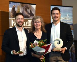 The family of the late Prof Phil Bishop, Wild Dunedin's Wild Hero for 2021, wife Debbie Bishop...