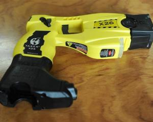 Police Taser Gun. Photo by ODT.