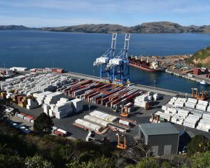 Port Otago's container wharf was quiet yesterday as global shipping delays continue to affect...
