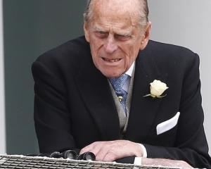 Prince Philip, the Duke of Edinburgh, attends the Epsom Derby in Epsom, south of London, on June...