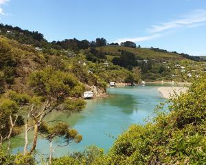 Dunedin's own blue lagoon.
