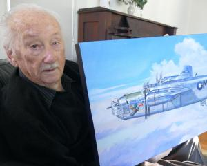 Centenarian Ray Dunn, of Kaitaia, in Queenstown this week with his most prized possession: a...