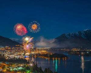 Fireworks light up Queenstown Bay during the 2018 Queenstown Winter Festival in June. Photo:...