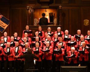 The Dunedin RSA Choir sing Hine eHine in Dunedin Town Hall last night. PHOTO: LINDA ROBERTSON