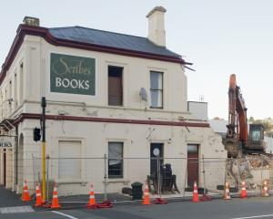 The Great King St, Dunedin building that once housed Scribes Second Hand Books is being reduced...