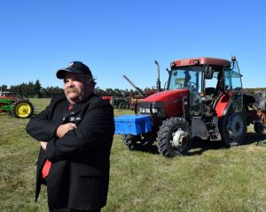 New Zealand Ploughing Association president James Burnby gets set to compete in his Case...