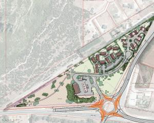 A proposed new Wanaka development at the  intersection of  SH6 and 84 at the base of Mt Iron has...