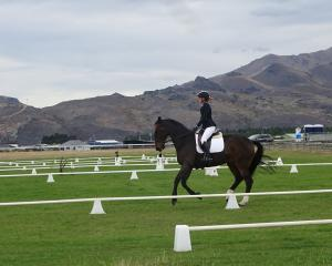 Otago-Southland squad member Kate Hamilton competes in the dressage section at Cromwell...