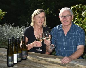 Gary Marsh and Marg Eton-Marsh are producing wine from their Little Domett Estate vineyard, in...