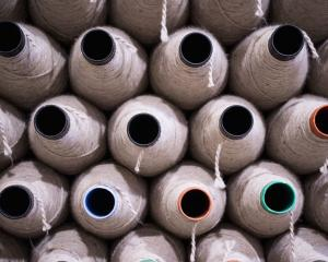 Spools of yarn at Cavalier's Whanganui plant. Photo: Supplied.