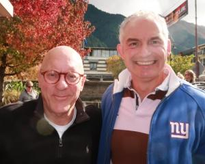 Queenstown mayor Jim Boult (left) and Tourism Minister Stuart Nash. Photo: Mountain Scene