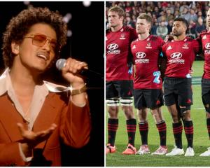The Crusaders were caught up in a bizarre hoax involving pop superstar Bruno Mars. Photos: Getty