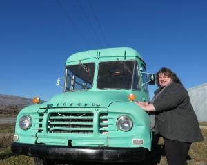 Judy Cockeram, of Cromwell, is over the moon that her bus has been found.PHOTO: SIMON HENDERSON