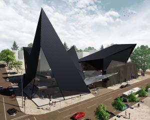 An artist's impression of a proposed national sports museum in Christchurch. IMAGE: SUPPLIED
