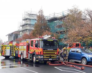 Firefighters were called to extinguish a fire in the roof of the College of Education Auditorium...