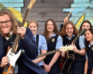 Taieri College band The Mountain Millers (from left) Daniel Ruthven (15), Kate Burkett (14),...