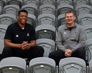 Basketball New Zealand high performance director Leonard King (left) and Tall Ferns head coach...