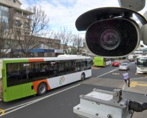 CCTV cameras at Dunedin's bus hub are finally working. PHOTO: GERARD O'BRIEN