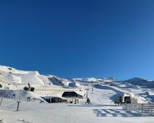 Snow at Cardrona Alpine Resort this morning. Photo: Jen Houltham.