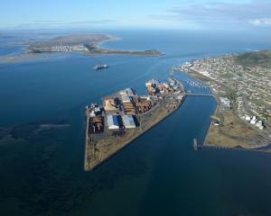 An aerial view of South Port. The company has lodged a resource consent to deepen the entrance...