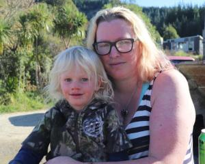 Axle Hamblyn with his mother Haley Allatt. Photo: RNZ