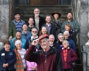McPhee Clan Society of New Zealand president Glen McPhee during a Scottish clan tour of Larnach...