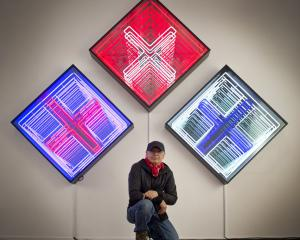 Robert Jahnke is back in Dunedin with new works (from left) Mata Whero, Mata Ma and Mata...