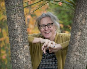 Author Kyle Mewburn is being her best her. PHOTO: GERARD O'BRIEN