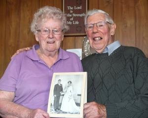 Gore residents June and Roy McKenzie celebrate their 60th wedding anniversary yesterday. Mrs...