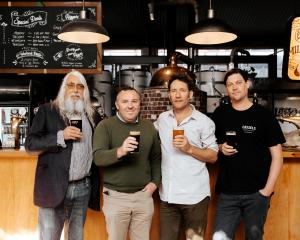 Cassels Brewing's owner/director Alasdair Cassels, executive brewer Simon Bretherton, director...