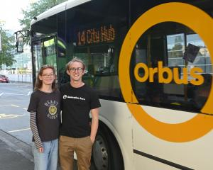 Generation Zero members Eva Templeton (19) and Adam Currie (21) want all bus fares reduced to $1....