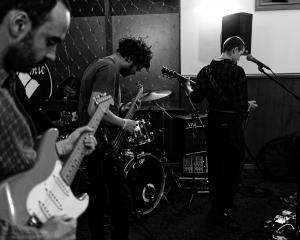 Bathysphere (from left) Peter McCall, Josh Nicholls and Richard Ley-Hamilton. Vocalist Julie Dunn...